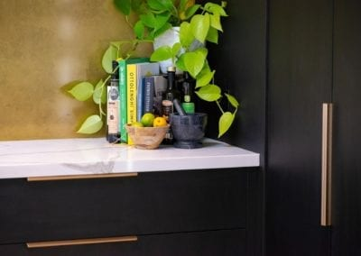 Bold concept with high class finish kitchen gold handles in Bowral