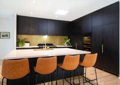 Bold concept with high class finish kitchen with black cabinetry in Bowral