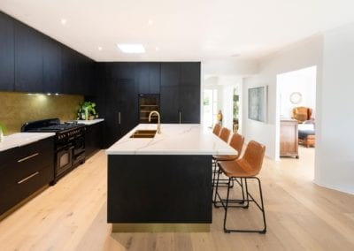 Bold concept with high class finish kitchen with black wall cabinetry in Bowral