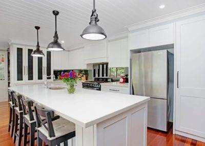 Classic Black & White Hamptons Kitchen Narellan Vale