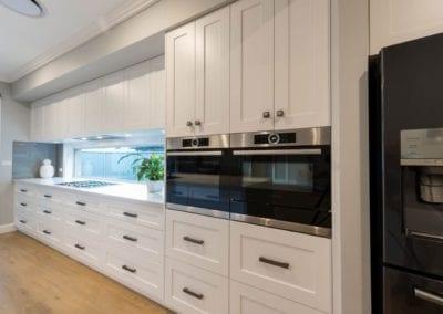 Contemporary Hamptons twist kitchen wall cabinetry Harrington Grove
