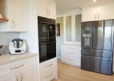 Contemporary Hamptons with timber highlights Barden Ridge wall oven tower and fridge