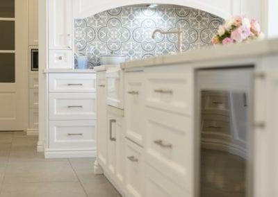 Light antique luxury kitchen island appliances Kirkham