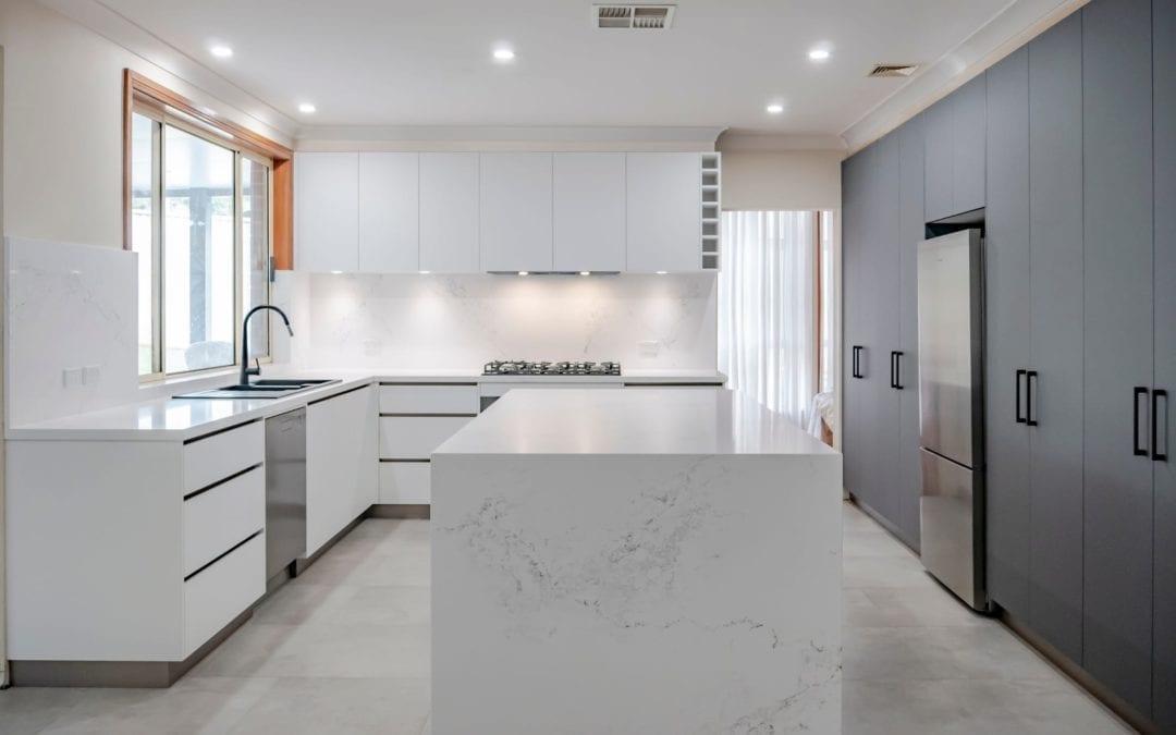 Sleek Black & White Matt Kitchen Harrington Park