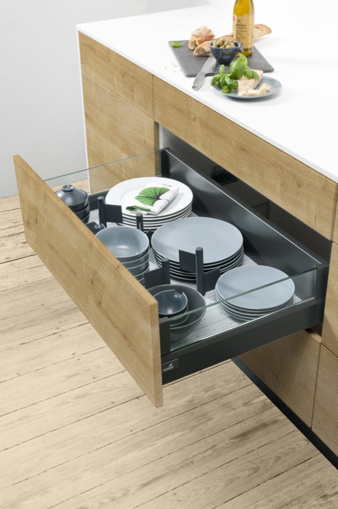 hettich arcitech kitchen storage solution drawer organiser lifestyle
