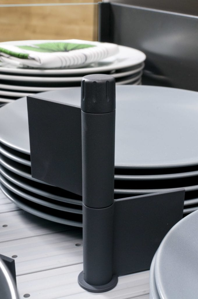 hettich arcitech kitchen storage solution drawer organiser detail