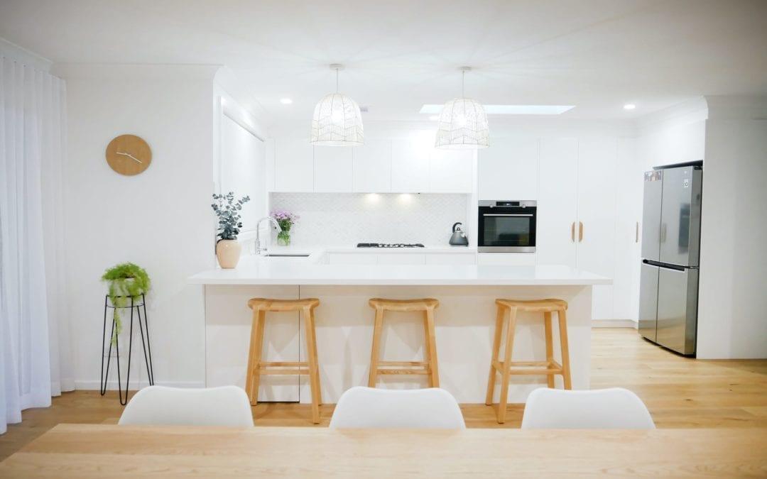 Coastal Feel White Kitchen Narellan