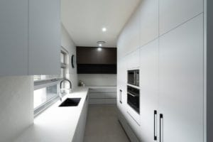 Modern Butler's pantry with full height cabinetry