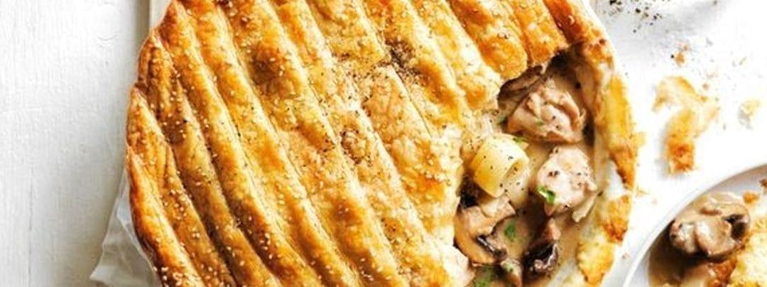 Creamy Chicken, Mushroom and Leek Pie
