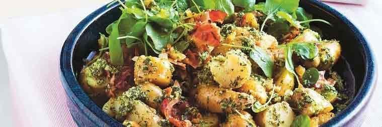 Potato Salad with Macadamia and Dill Pesto