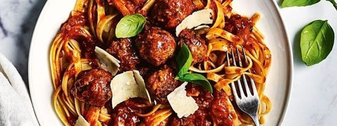 Slow-Cooker Meatballs with Fettuccine