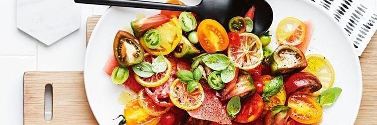 Matt Moran's Heirloom Tomato, Watermelon and Confit Lemon Salad