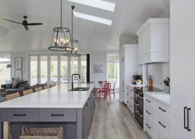 Stylish country hamptons style kitchen in moss vale stainless steel rangehood and appliances